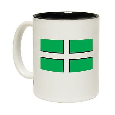 Funny Mugs - Devon Flag - Travel Explore Holiday Camp Trip N