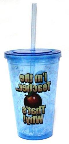 Im the Teacher Double Wall Insulated Acrylic Tumbler Cup Lid