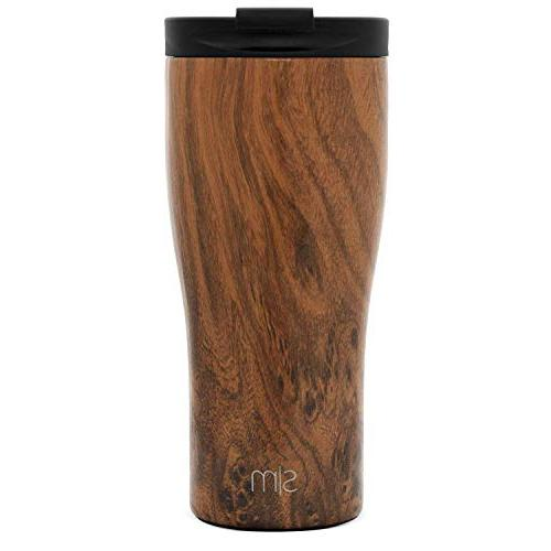 Simple Modern Classic Travel Lid and - Vacuum Insulated Coffee Stainless Pattern: Wood Grain