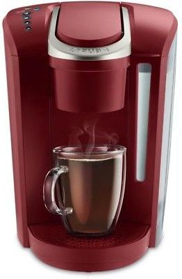 k select single serve brewer vintage red