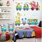 Kids Animal Circus Train Wall Decal Stickers Nursery Baby Bo