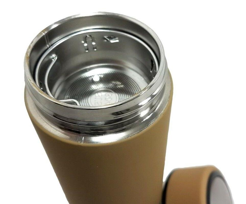 LEAK-PROOF CUP THERMOS WATER BOTTLE + FILTER TRAY