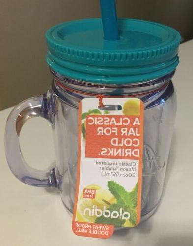 Aladdin Jar Thermal Classic 20 oz Jar Clear Teal