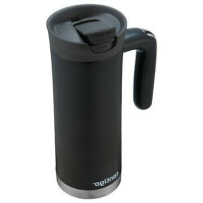 Matte Black 20 oz Travel Mug Snapseal Superior Vacuum Insula