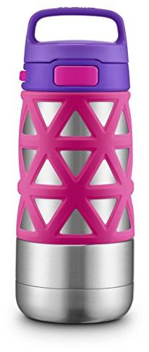 Ello Max Stainless Steel Water Bottle, Pink/Purple, 12 oz