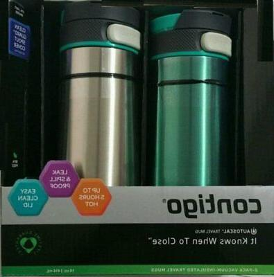 Contigo Travel Mug Set Stainless Steel Vacuum Insulated Leak