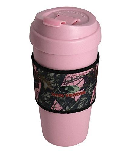 Mossy Oak 16 oz Travel Mug With Break Up Pink Camo Sleeve&