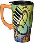 Spoontiques Music Travel Mug, Multi Colored