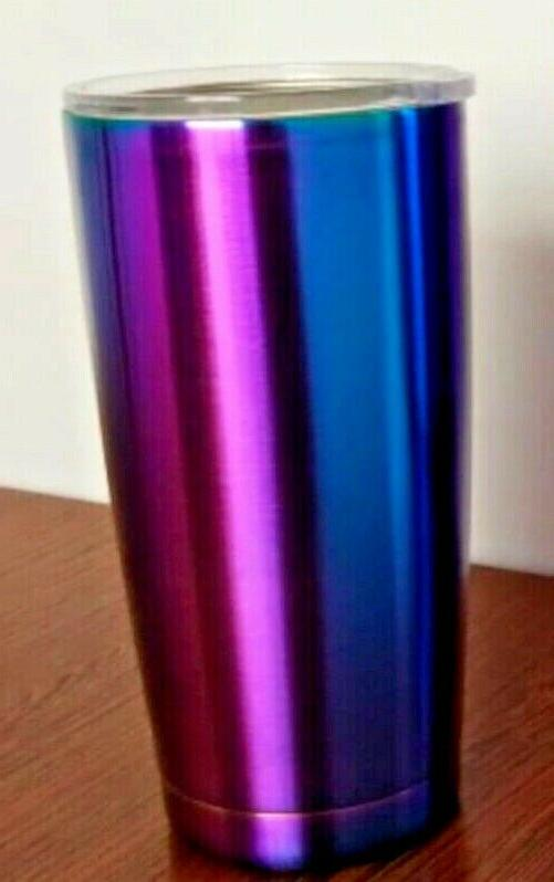 NEW Mug Like Yeti Travel Iridescent Blue 20 oz