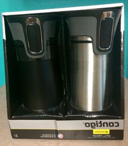 new in box 2 pack travel mugs