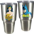 NEW  DC Comics Batman And Wonder Woman Stainless Steel 18 Oz