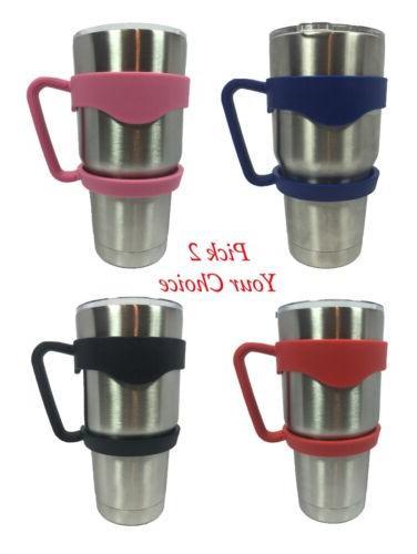 New x2 Tumbler Handle 30 oz YETI Holder Travel Mug RTIC Red