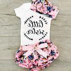 Newborn Infant Baby Girls Outfit Clothes Tops Romper Jumpsui