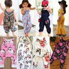 Newborn Kids Baby Girl Floral Romper Jumpsuit Playsuit Cloth
