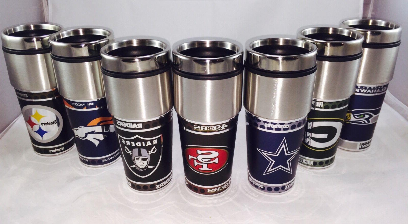 NFL Broncos Wrap Travel Tumbler Fan Coffee Mug