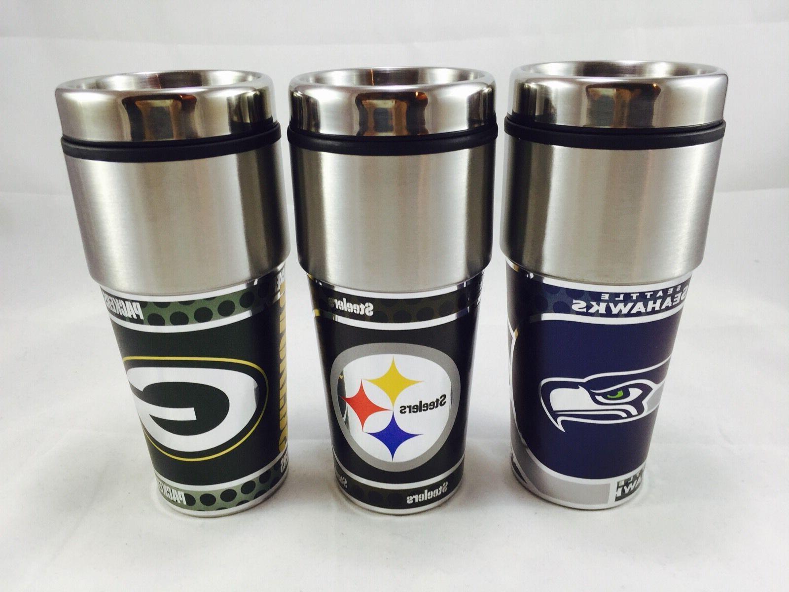 NFL Denver Broncos 360 Wrap Travel Fan Coffee Mug