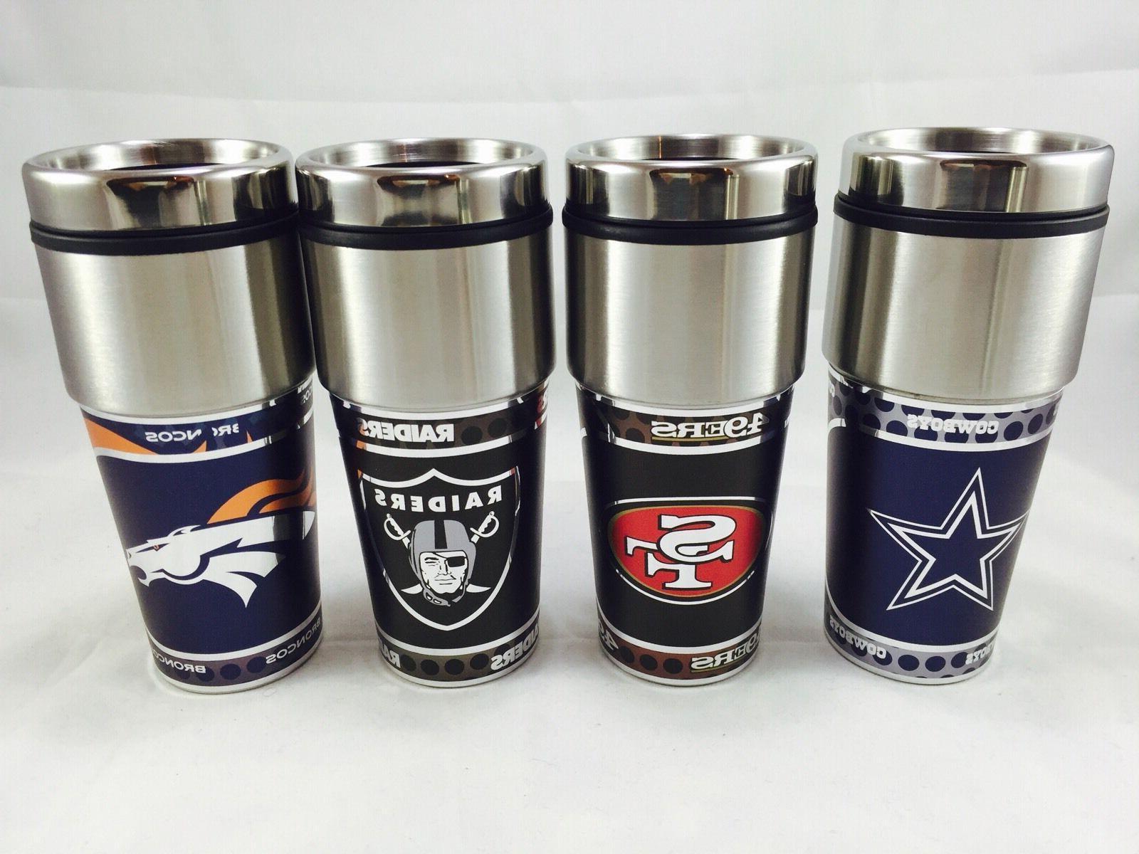 NFL 360 Wrap Tumbler Fan Cup