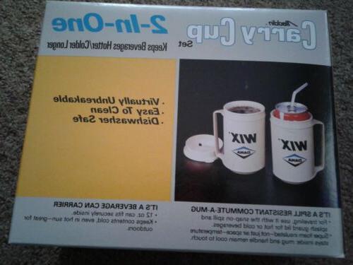 NIB Vintage Oil Plastic Mug Set