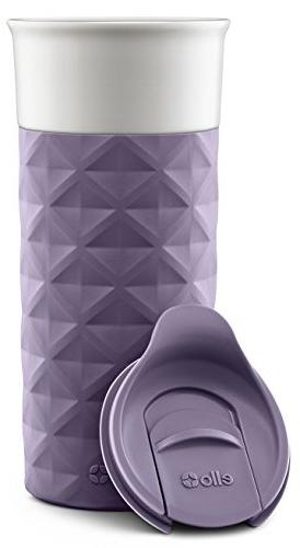 Ello Ogden BPA-Free Ceramic Travel Mug Deep Purple,