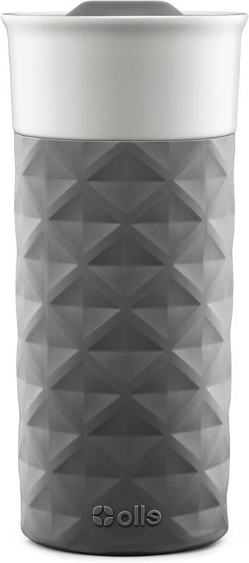Ello Ogden Ceramic Travel Mug with FrictionFit Lid 16 oz Gre