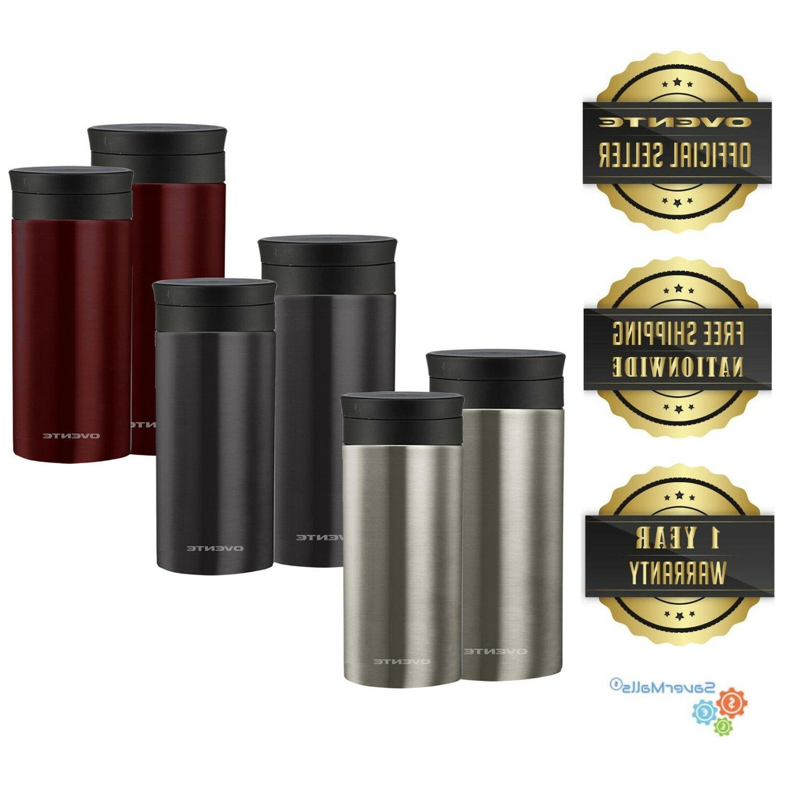ovente travel mug with flavor infuser vacuum