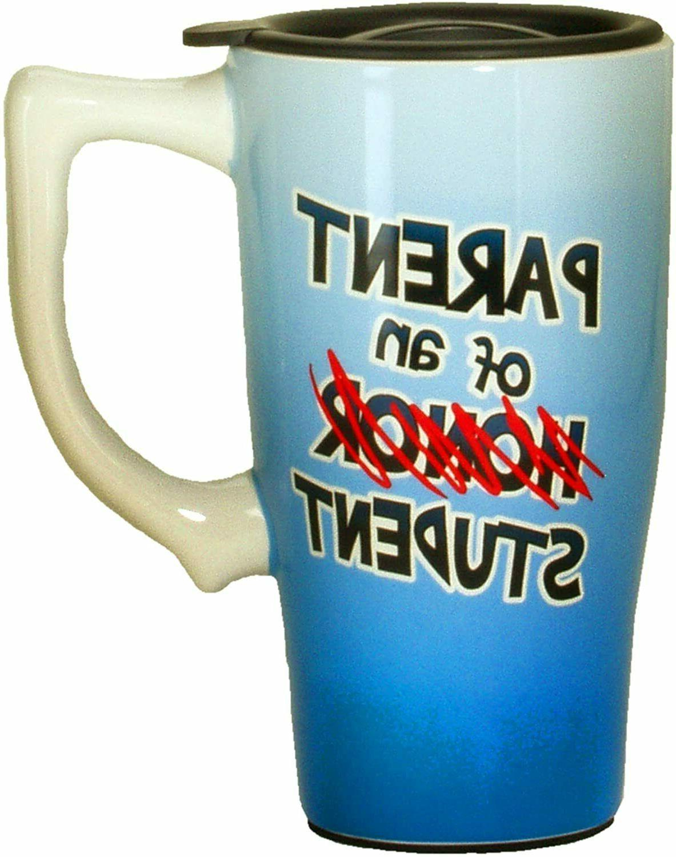 parent of honor student travel mug blue