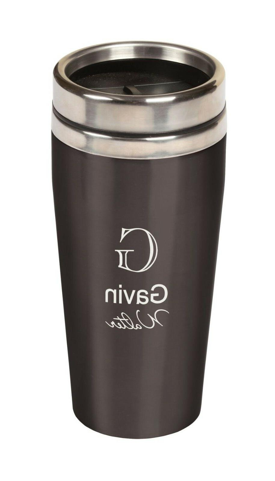 Personalized Laser Engraved TRAVEL COFFEE MUG - Choose your