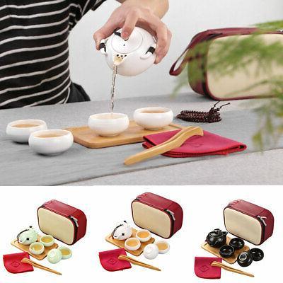 portable outdoor travel ceramic teacup set tea