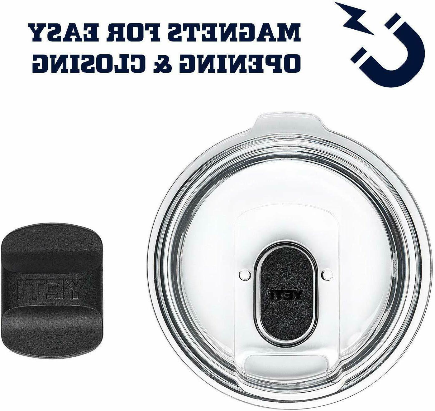 YETI Rambler Steel Vacuum Tumbler w/MagSlider Black