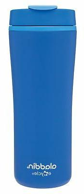 Aladdin Recycled and Recyclable Leak Proof Travel Mug, Blue,