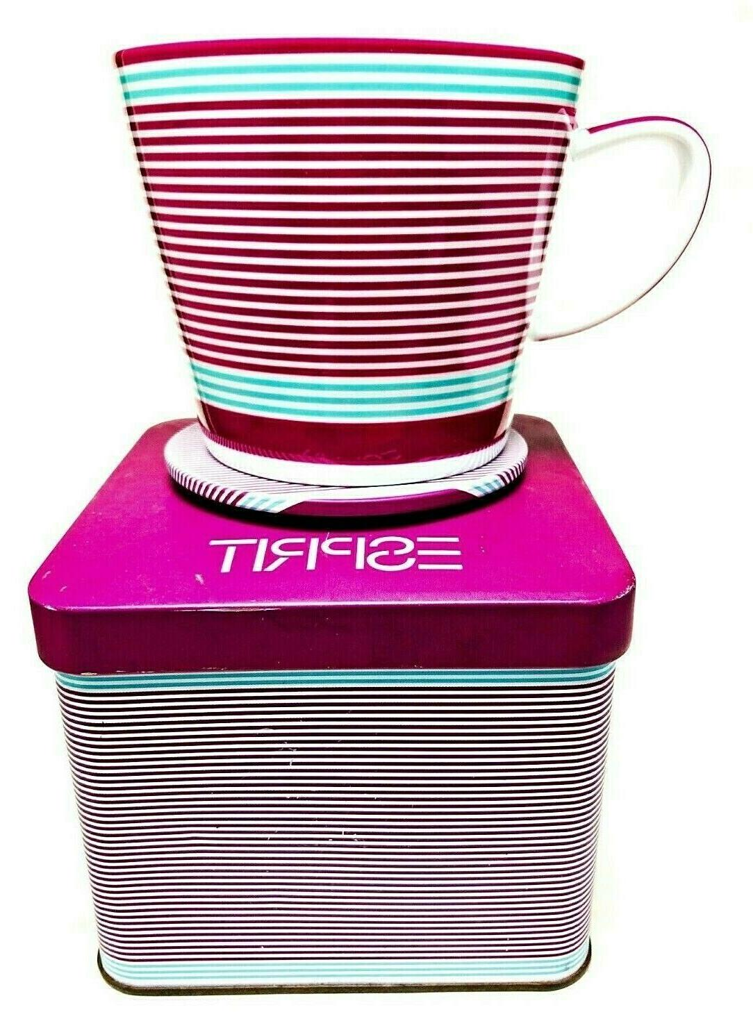 Red and Saucer Travel Tin Box Gift