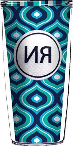 RN Emblem On Blue Color Drop Traveler 16 Oz Tumbler Cup