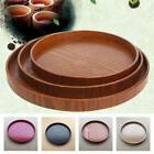 Round Wooden Plate Natural Wood Serving Tray Tea Food Server