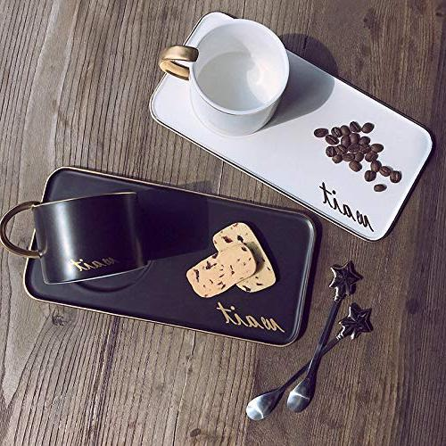 """Colias Simple Golden Letter""""Wait""""&Golden Edge Stylish Cup Coffee Mug Travel Mug with"""