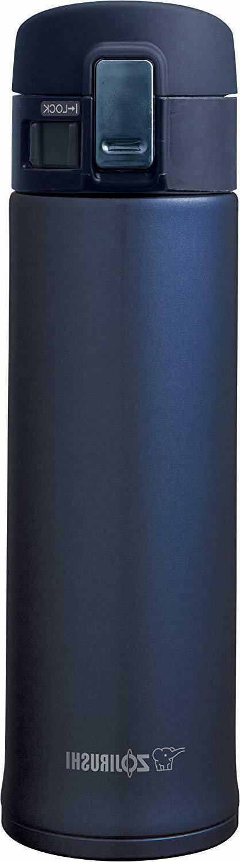 Zojirushi SM-KHE48AG Stainless Steel Mug, 16-Ounce, Smoky Bl