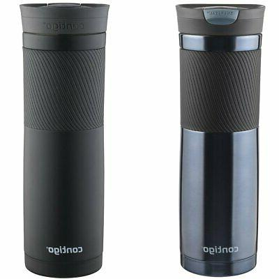 Contigo SnapSeal Byron Stainless Steel Travel Mug, 16 oz, Vi