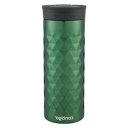 Contigo SnapSeal Travel Mugs, oz, & Green, 2-Pack