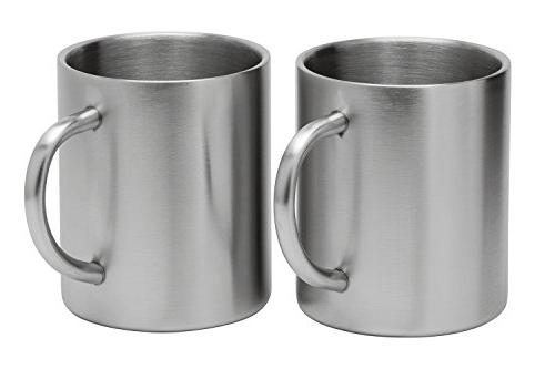 Stainless Mugs: 100% Free,15 oz Coffee & Tea Cup Mug Insulated with Keep Drinks or Cold for - of Shatter Mugs