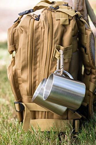 Stainless Mugs: 100% BPA oz Metal Coffee Tea Cup - Insulated Keep Hot Cold for Camping - Mugs