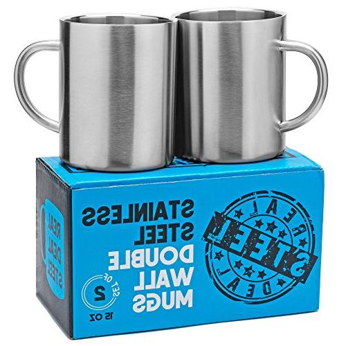 stainless double walled mugs bpa
