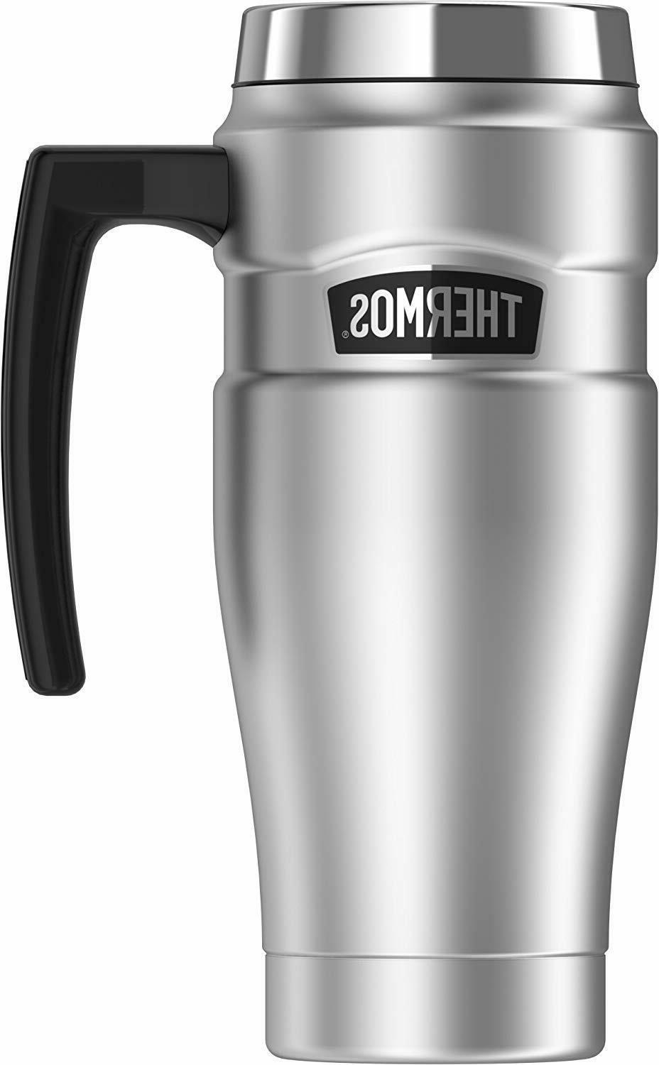 Thermos Stainless King 16 Ounce Travel Mug, Stainless Steel