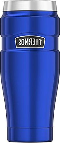 Thermos Stainless King 16 Ounce Travel Tumbler, Electric Blu