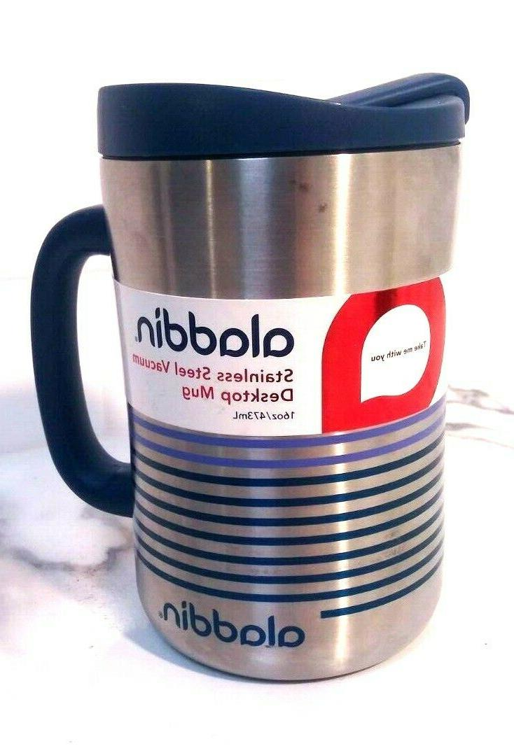 stainless steel insulated coffee travel mug 16oz