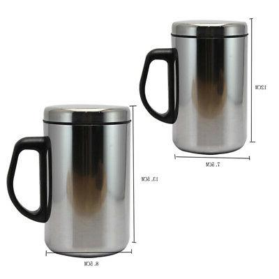 Travel Mug Stainless Steel Tumbler Hot Bottle 12/17OZ Vacuum