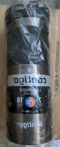 Contigo Stainless Steel Travel Mug Sports Bottle, 20oz, Gunm