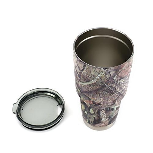 Mossy Camo Stainless Steel Vacuum Insulated Cups, Coffee Travel Mug, 30 oz