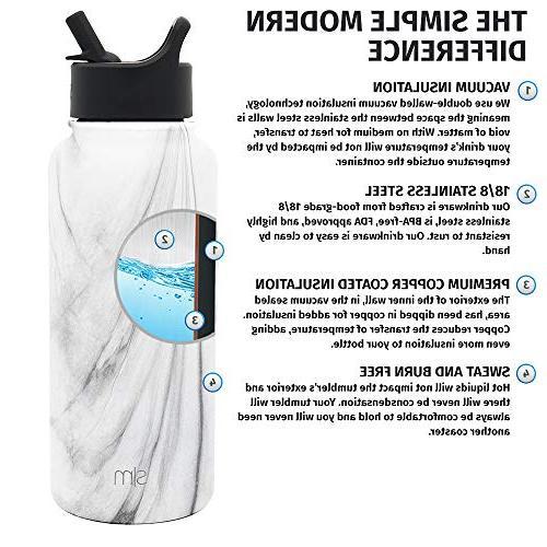 Simple oz Summit with Straw - Insulated Wall Mug 18/8 Flask