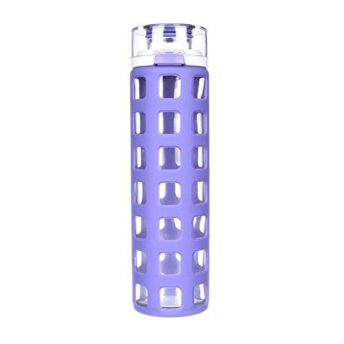Ello Syndicate BPA-Free Glass Water Bottle with Flip Lid, Gr