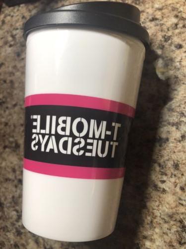 T-Mobile Travel Mug Cup w/ Lid,Snap Seal-Micro/Dishwasher Sa
