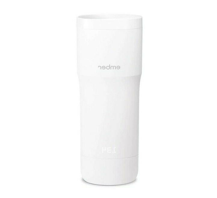 temperature control white heated travel mug 12